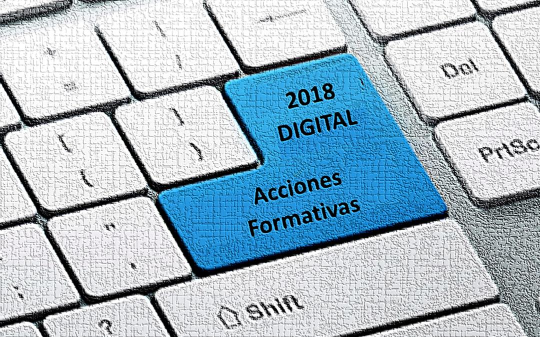 Acciones formativas de los planes de referencia sectoriales (Digitales 2018)